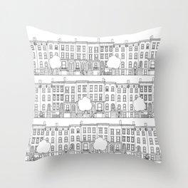 blocks of Brooklyn Throw Pillow