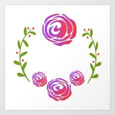 Floral Round Art Print