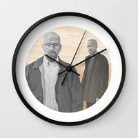 breaking bad Wall Clocks featuring Breaking Bad by ketizoloto