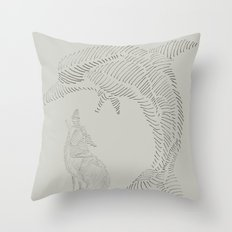 dolphin and wolf Throw Pillow