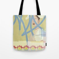 wallpaper Tote Bags featuring Wallpaper by John Murphy