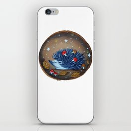 Magical Autumn Hedgehog With Forest Treasures iPhone Skin