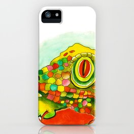 Yellow Lizzard iPhone Case