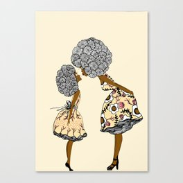 Give mommy a Kiss Canvas Print