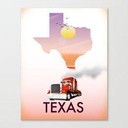 Texas trucking poster Canvas Print