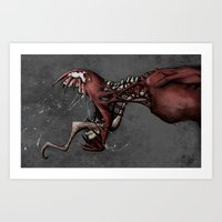 carnage Art Prints featuring Carnage by BierWiser