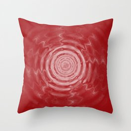 Ripples_Red Throw Pillow