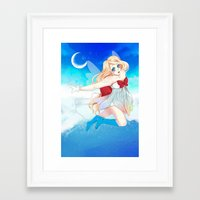 magical girl Framed Art Prints featuring Magical girl by jemaica