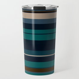 minimalistic horizontal stripes pattern hbi Travel Mug