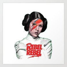 REBEL REBEL LEIA Art Print