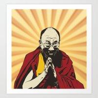 lama Art Prints featuring Dalai Lama by ArDem