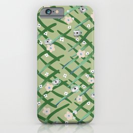 Garden behind the fence  iPhone Case