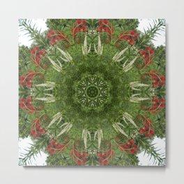 Cardinal flower and Culver's root kaleidoscope Metal Print