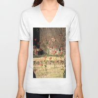poppy V-neck T-shirts featuring Poppy by Four Hands Art