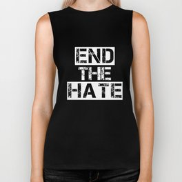 end the hate hipster t-shirts Biker Tank