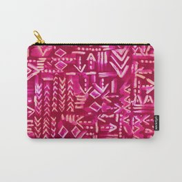 Tapa Tribal Red Carry-All Pouch
