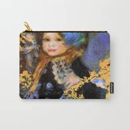 manet gold and blue little girl Carry-All Pouch