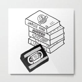 VHS Tapes Metal Print