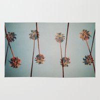 palms Area & Throw Rugs featuring PALMS by I am Fed