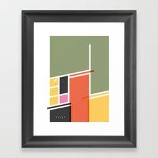SECRET CYCLING FLAG - VOIGT Framed Art Print