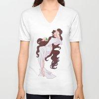sailor jupiter V-neck T-shirts featuring Sailor Jupiter by Dixie Leota