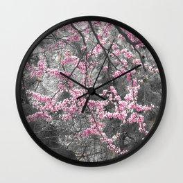 Under The Redbud Tree Wall Clock