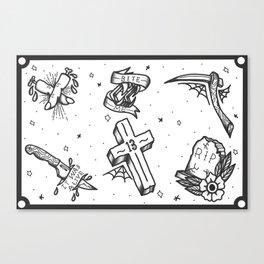 Halloween Flash Sheet Canvas Print