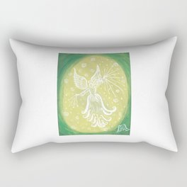 Archangel Raphael - Green Rays Rectangular Pillow