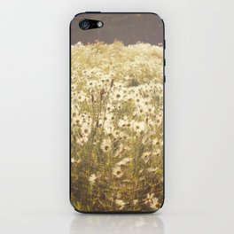 Spinning daisies iPhone Skin