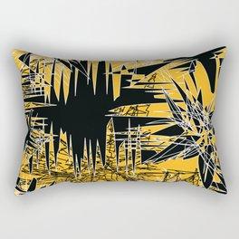 Yellow Chaos Rectangular Pillow