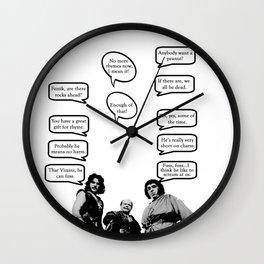 Princess Bride Peanut Rhyme Wall Clock
