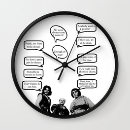 Princess Bride Peanut Rhyme Wall Clock