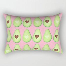 Avocado Love Pattern Rectangular Pillow