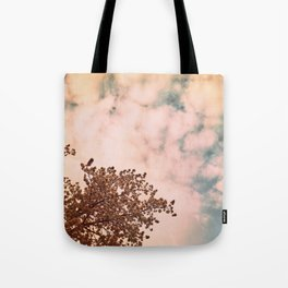 Marshmallow sky Tote Bag