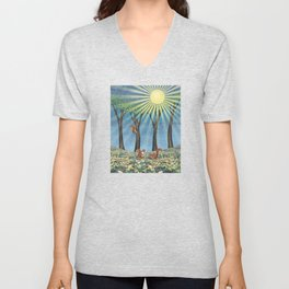 sunshine squirrels Unisex V-Neck