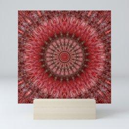 Rosy daydreams mandala Mini Art Print