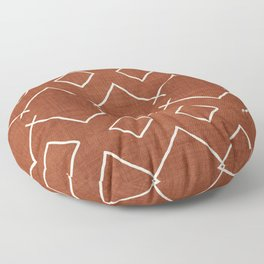 Bath in Rust Floor Pillow