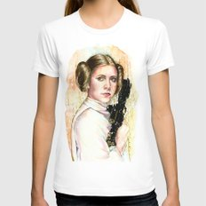 Princess and General White Womens Fitted Tee MEDIUM