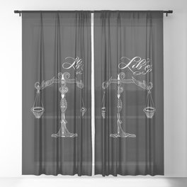 Libra (Dark) Sheer Curtain
