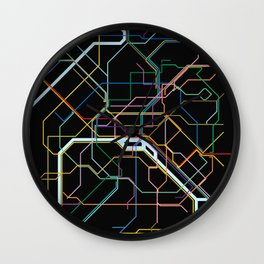 Paris Subway Map Wall Clock