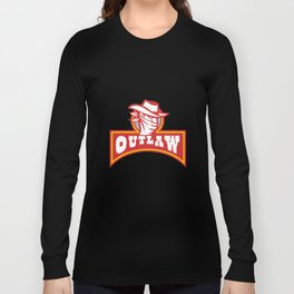 Bandit With Outlaw Text Retro Long Sleeve T-shirt