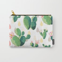 Cacti Floral Carry-All Pouch
