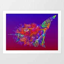 Alien Sea Creature Art Print