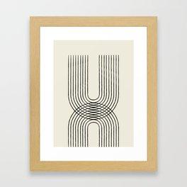 Arch duo 1 Mid century modern Framed Art Print