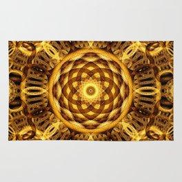 Gold Seam Mandala Rug