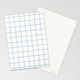 Grid Pattern Pale Blue Stationery Cards