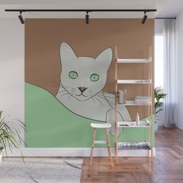 Russin Blue Cat Portrait Wall Mural