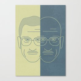 Breaking Bad - Faces - Double Walter White Canvas Print