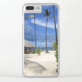 Come with Me to the Dominican Republic Clear iPhone Case