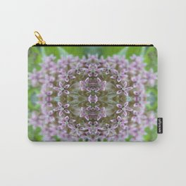 Kaleidoscope Pink Milkweed Flower Macro Photograph Carry-All Pouch